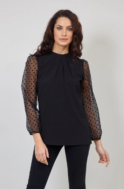new_fashion_trend_puffy_sheer_sleeves_outfit