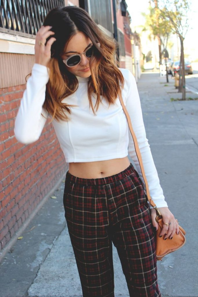new_fashion_trend_tartan_pants_crop_tops_outfit