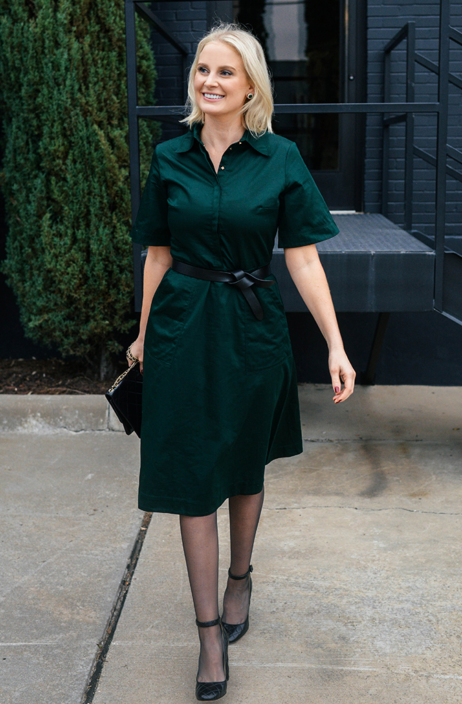 Classy Wedding Outfits for Guests forest green