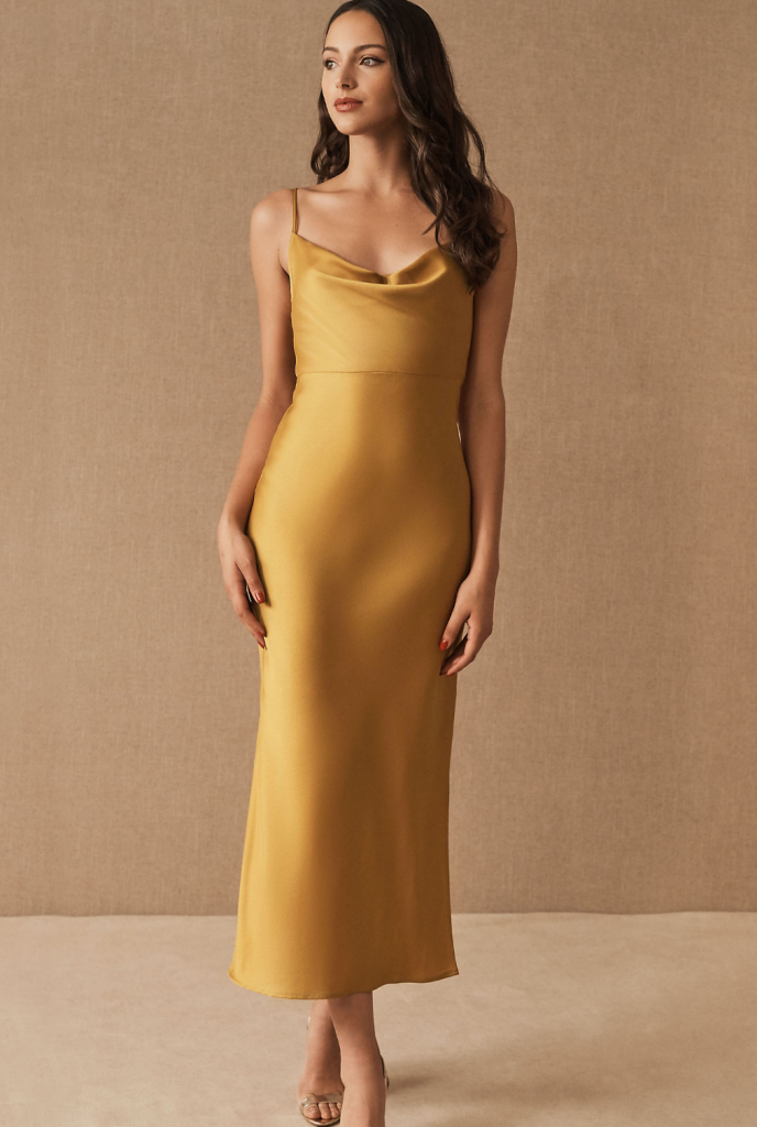 cute yellow mother of the bride dresses