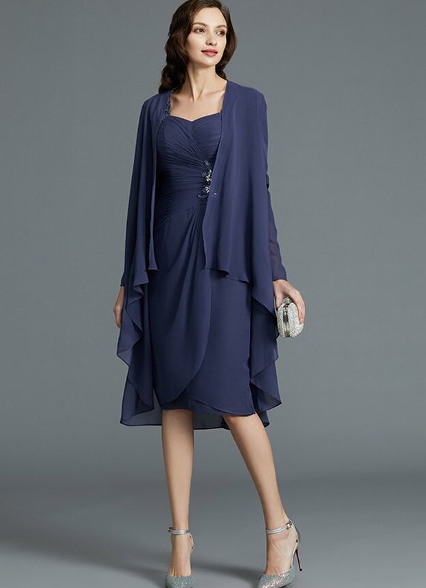 fashionable mother of the_bride dresses knee length