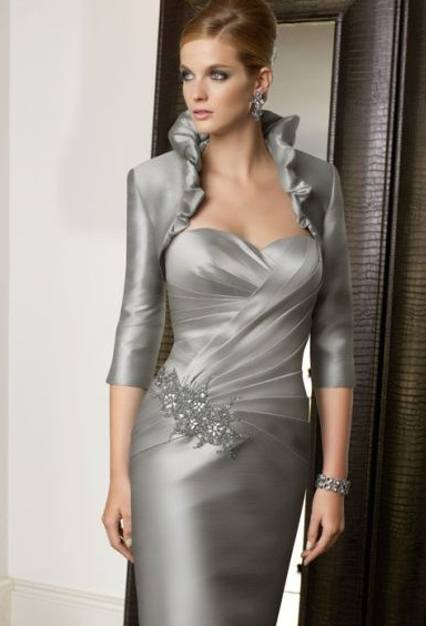 mother of the bride outfits bolero dress