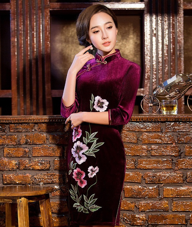 mother of the bride outfits cheongsam dresses