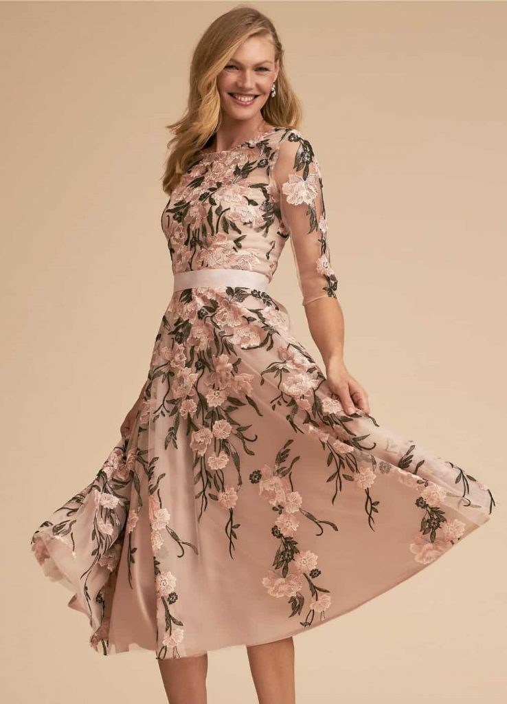 mother of the bride outfits midi dress