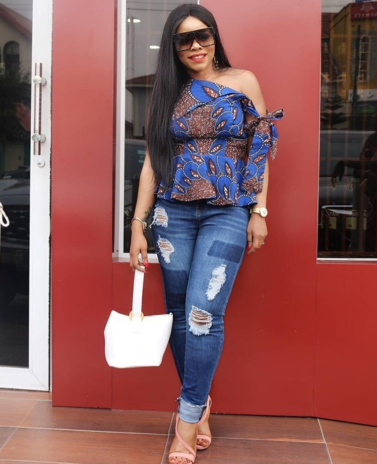 new_fashion_trend_ankara_and_jeans_outfits_for_ladies