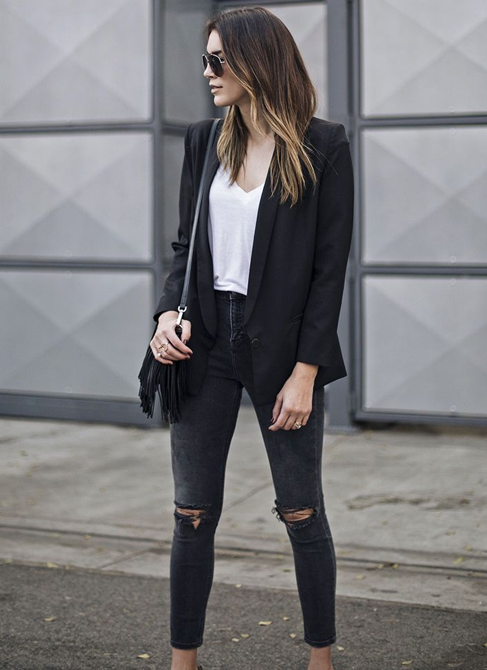 outfit with black jeans casual